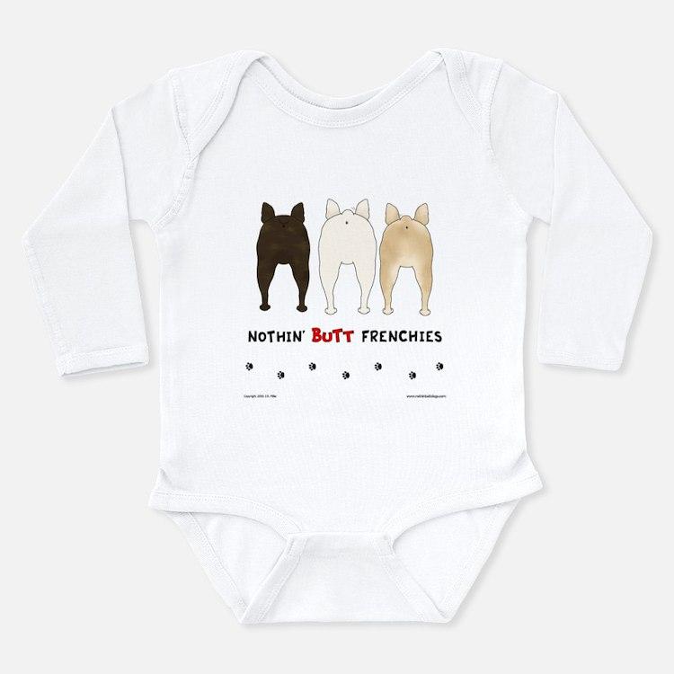 Cute French bulldogs Long Sleeve Infant Bodysuit