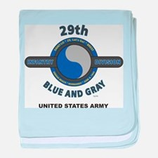 29TH INFANTRY DIVISION baby blanket