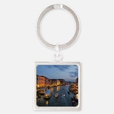 VENICE CANAL Square Keychain