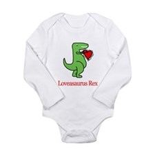 Cute Dinosaur love Long Sleeve Infant Bodysuit