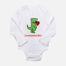 Cute Valentine dinosaurs Long Sleeve Infant Bodysuit