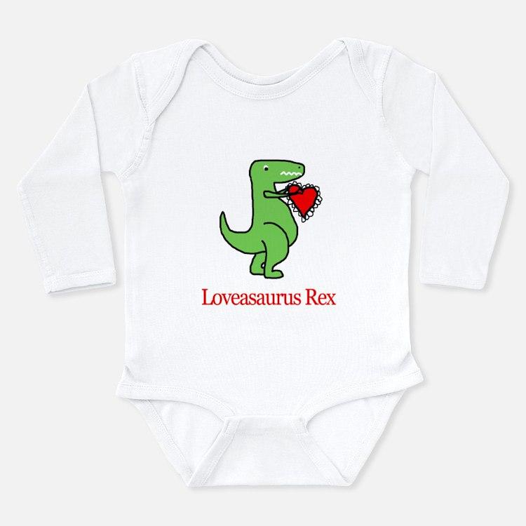 Cute Dinosaur heart Long Sleeve Infant Bodysuit