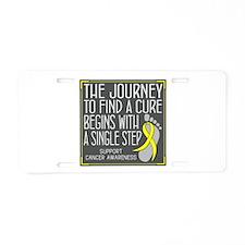 Osteosarcoma Walk Aluminum License Plate