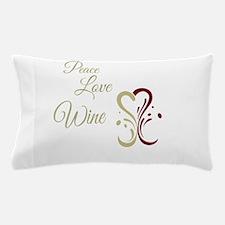 Cute Peace love wine Pillow Case