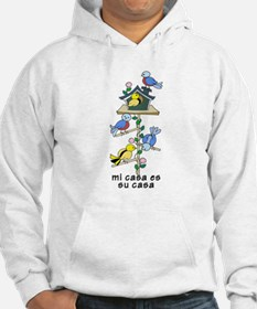 Colorful Bird Houses and Birds S Hoodie