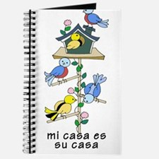Colorful Bird Houses and Birds Spanish Lan Journal