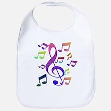 Key sol and music note Bib