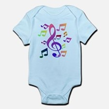 Key sol and music note Body Suit