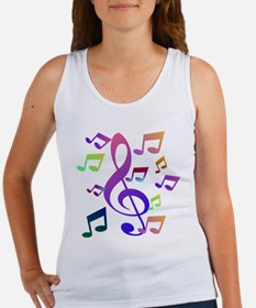 Key sol and music note Tank Top
