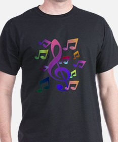 Key sol and music note T-Shirt