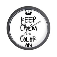 Color_on_2 Wall Clock