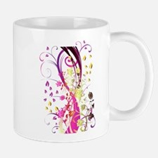 Love Swirl Flower Mugs