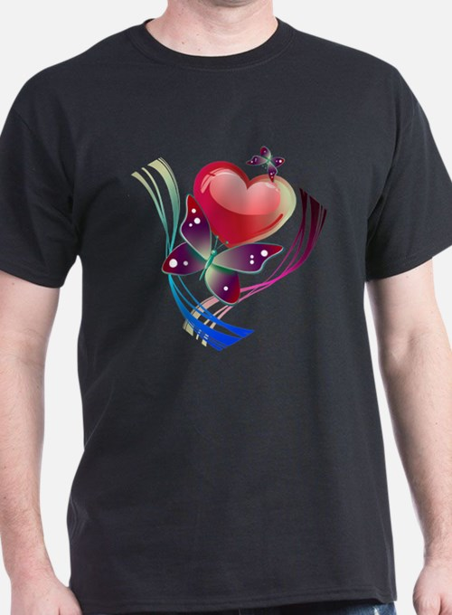 Love Swirl Butterfly T-Shirt