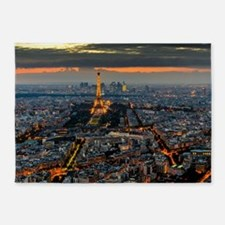 PARIS FROM ABOVE 5'x7'Area Rug
