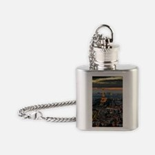 PARIS FROM ABOVE Flask Necklace