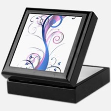 Pink and Blue Swirl Keepsake Box