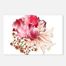 Bouquet of Roses Postcards (Package of 8)