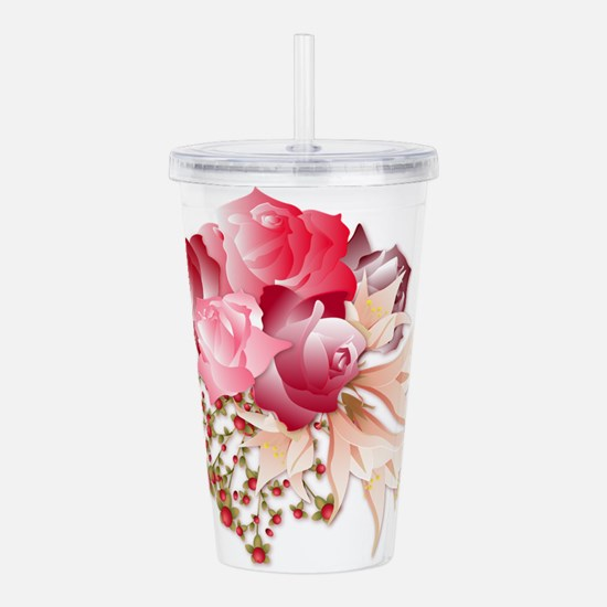 Bouquet of Roses Acrylic Double-wall Tumbler