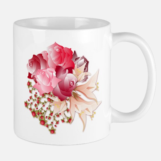 Bouquet of Roses Mugs