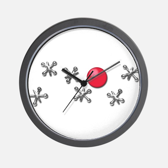 Old Fashioned Ball and Jacks Game Wall Clock