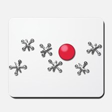 Old Fashioned Ball and Jacks Game Mousepad