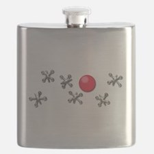 Old Fashioned Ball and Jacks Game Flask