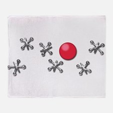 Old Fashioned Ball and Jacks Game Throw Blanket