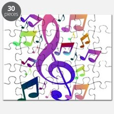 Key sol and music notes Puzzle