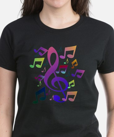 Key sol and music notes T-Shirt