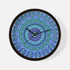 Blue Spirit Mandala Wall Clock