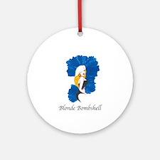 Blonde Bombshell Round Ornament
