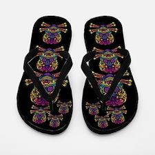 Decorative Candy Skull Flip Flops