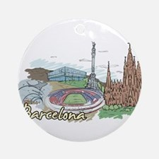 Unique Barcelona Round Ornament