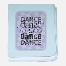 Dance Purple baby blanket