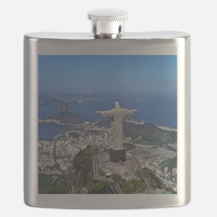CHRIST ON CORCOVADO Flask