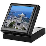 Rio de janeiro Square Keepsake Boxes