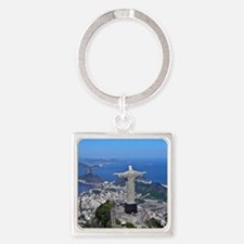 CHRIST ON CORCOVADO Square Keychain
