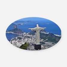 CHRIST ON CORCOVADO Oval Car Magnet
