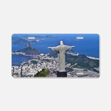 CHRIST ON CORCOVADO Aluminum License Plate