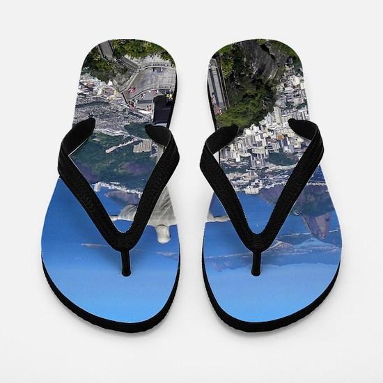 CHRIST ON CORCOVADO Flip Flops