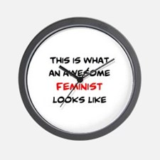 awesome feminist Wall Clock