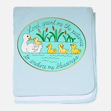 Ducks in Pond Patience baby blanket