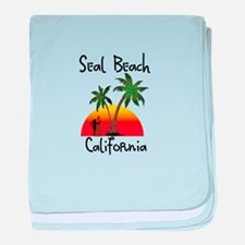 Seal Beach California baby blanket