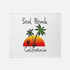 Seal Beach California Throw Blanket