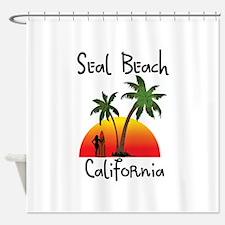 Seal Beach California Shower Curtain