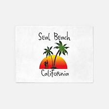 Seal Beach California 5'x7'Area Rug