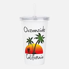 Oceanside California Acrylic Double-wall Tumbler