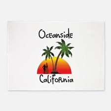 Oceanside California 5'x7'Area Rug
