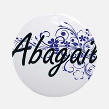 Abagail Artistic Name Design with F Round Ornament