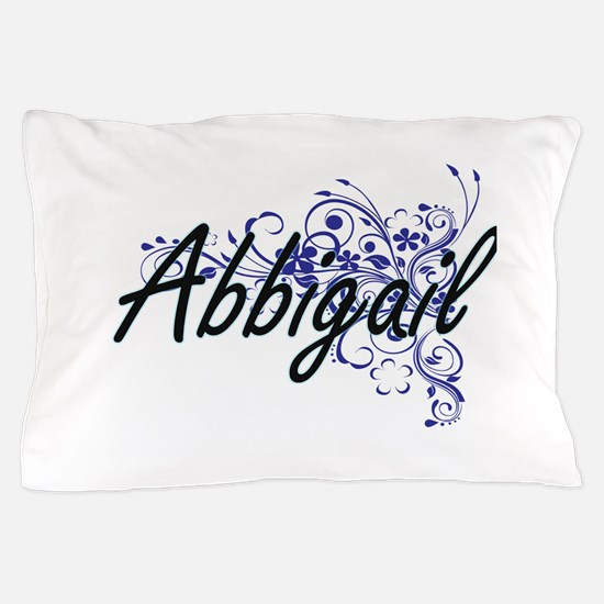 Abbigail Artistic Name Design with Flo Pillow Case